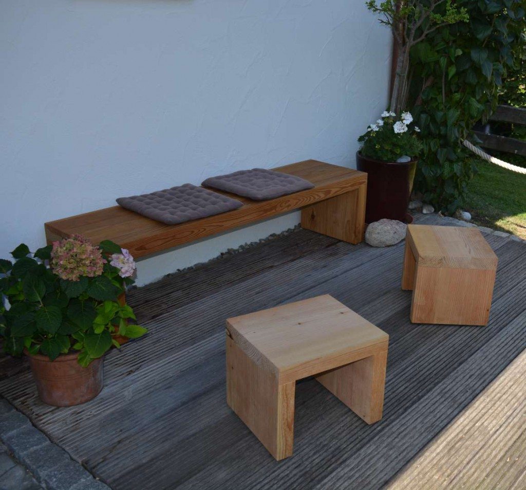 Gartenmöbel in Lärche